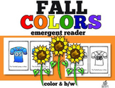 Fall Emergent Reader: Fall Color Words