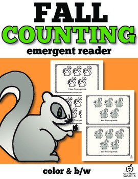 Fall Emergent Reader: Counting Squirrels with One to One Correspondence