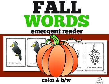 Fall Emergent Reader: Fall Words