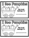 Fall Emergent Reader {I See Pumpkins}