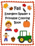 Fall Emergent Reader & Printable Coloring Book
