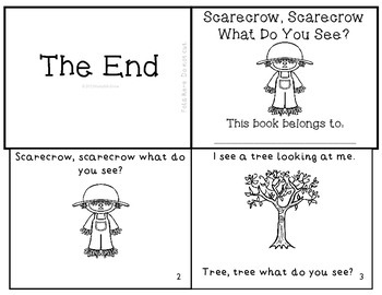 """Fall Emergent Reader """"Scarecrow, Scarecrow What Do You See?"""""""