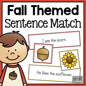 Fall Emergent Reader Sentence Matching Strips