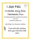 Fall Emergent Reader Sticker Story