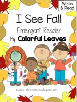Fall Emergent Reader: {Write & Read-I See Colorful Leaves}
