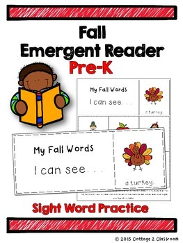 Fall Emergent Reader for PreKinders