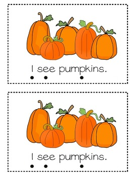 Fall Emergent Reader- At the Pumpkin Patch (includes Word Wall)