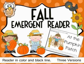 Fall Emergent Reader- At the Pumpkin Patch