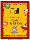 Fall Emergent Reader with Pocket Chart Cards and Poem - Kindergarten
