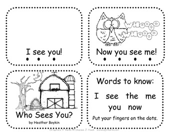 Fall Emergent Reader with Sight Words for Halloween  with Owls