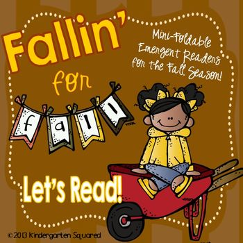 "Fall, Halloween, & Thanksgiving Emergent Readers: 20+ ""Print, Fold, & Go"" Books!"