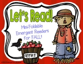 "Fall Emergent Readers: 9 ""Print, Fold, and Go"" Books!"