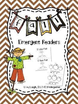 Fall Emergent Readers~ FREEBIE