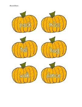 Fall Endings Sort -ed -ing