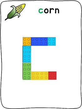 Fall - English - Plastic building block activity mats