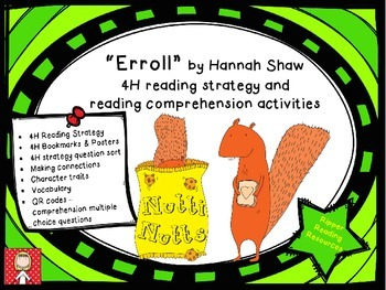 """Fall - """"Erroll"""" a story about a squirrel - 4H reading comprehension activities"""