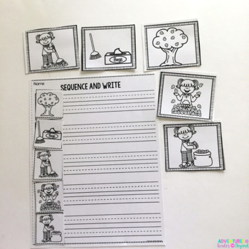 Fall Events Sequencing- Pictures and Writing