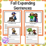 Fall Expanding Sentences for Speech and Language Therapy