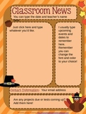 Fall FREEBIE! Editable Newsletter to test out in your classroom!