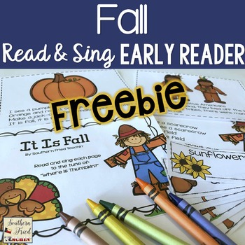 Fall FREEBIE Shared Reading Read & Sing Early Reader