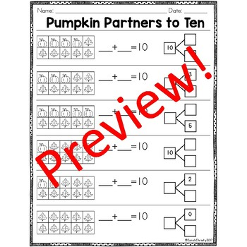 Fall FUN: Addition & Subtraction Fluency Printables