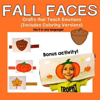 Fall Faces to Teach Emotions {Any Language}