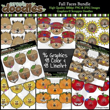 Fall Faces MEGA BUNDLE - $20 value