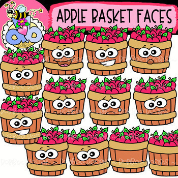 Fall Faces Clipart: GROWING Bundle {DobiBee Designs}