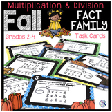 Fall Fact Families Task Cards