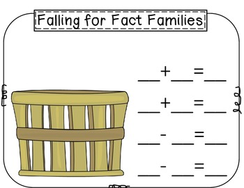 Fall Fact Family Activity