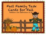 Fall Fact Family Task Cards