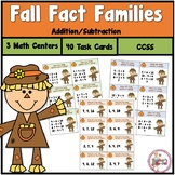 Fall Fact Family Addition and Subtraction Task Cards