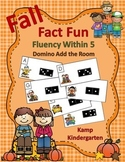 Fall Fact Fun Fluency Within 5 Domino Add the Room