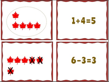 Fall Themed Math Centers--Basic Facts
