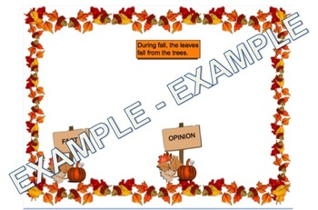Fall Fact and Opinion Sort