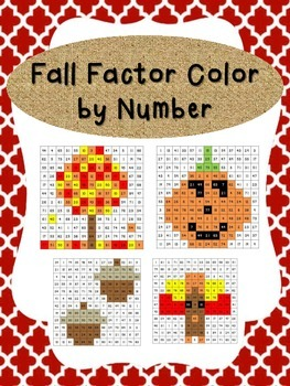 Fall Factor Color by Numbers - NO PREP Practice