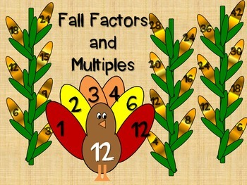Fall Factors and Multiples Craftivity (Factor Feathers and Multiples Maize)