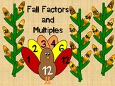 Fall Factors and Multiples Craftivity (Factor Feathers and
