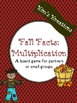 Fall Facts (Multiplication): 26 Fall board games (color and black/ white)