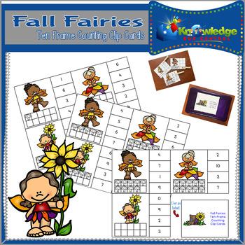 Fall Fairies Ten Frame Counting Clip Cards