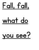 Fall, Fall, What Do You See? Color Words- Plurals Poem