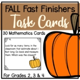 Fall Fast Finisher Task Cards-Math