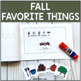 Fall Favorite Things Booklet with Visuals