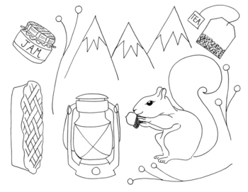 Fall Favorites Clip Art/Coloring Pages