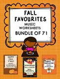 Fall Favourites_NO PREP Autumn Music Worksheets BUNDLE_71 PAGES