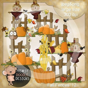 Fall Fences 300 dpi clipart