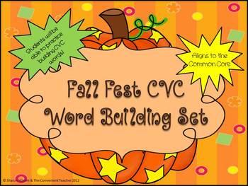Fall Fest CVC Word Building Mats