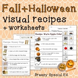 Fall and Halloween Visual Recipes for Special Education