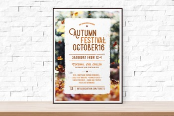 Fall Festival Flyer Template, Word Flyer Templates