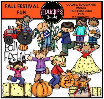 Fall Festival Fun Clip Art Bundle {Educlips Clipart}
